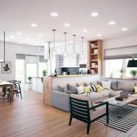 идея необычного дизайна гостиной в частном доме картинка