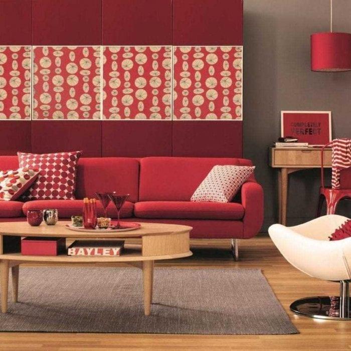 идея применения яркого дизайна комнаты в стиле ретро