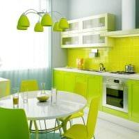 пример применения необычного дизайна кухни фото