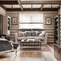 идея использования яркого декора комнаты в стиле ретро картинка
