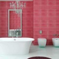 идея применения розового цвета в светлом декоре комнате картинка