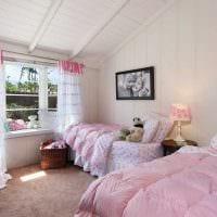 вариант применения розового цвета в красивом дизайне квартире фото