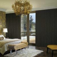 пример применения современных штор в красивом дизайне квартире картинка