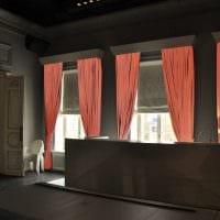 пример применения современных штор в светлом декоре квартире фото