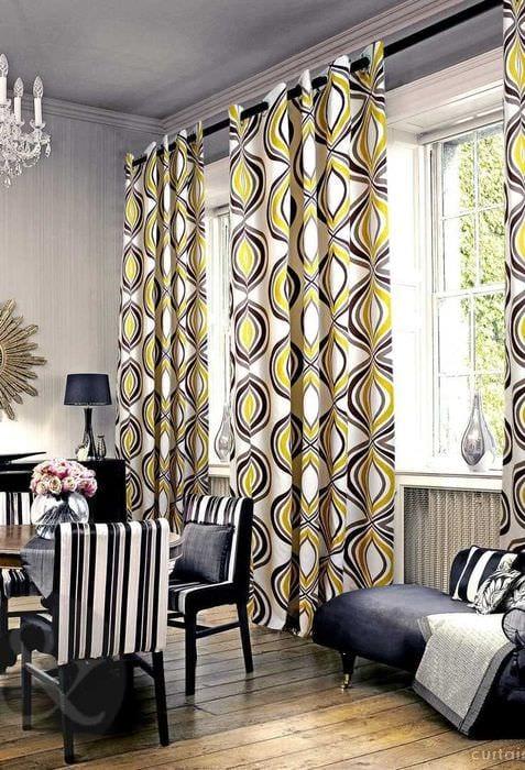 идея применения необычного интерьера комнаты в стиле ретро