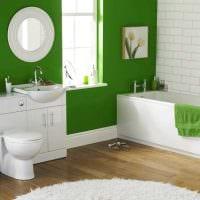 пример применения зеленого цвета в красивом декоре квартиры фото