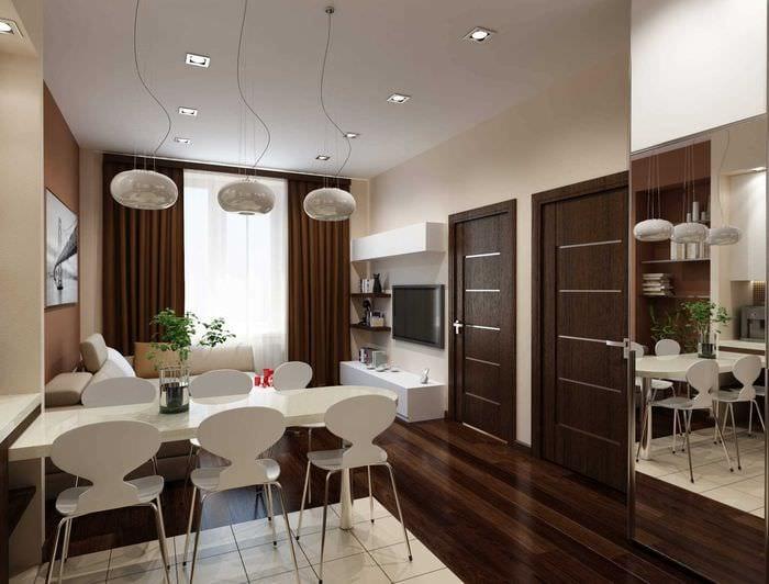 идея необычного декора двухкомнатной квартиры