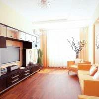 вариант светлого декора двухкомнатной квартиры фото