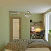 идея яркого дизайна двухкомнатной квартиры фото