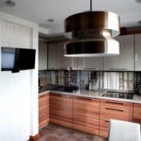 пример красивого дизайна кухни 8 кв.м фото