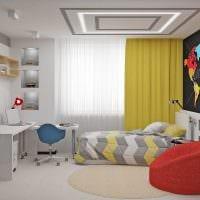 пример яркого современного стиля детской комнаты фото