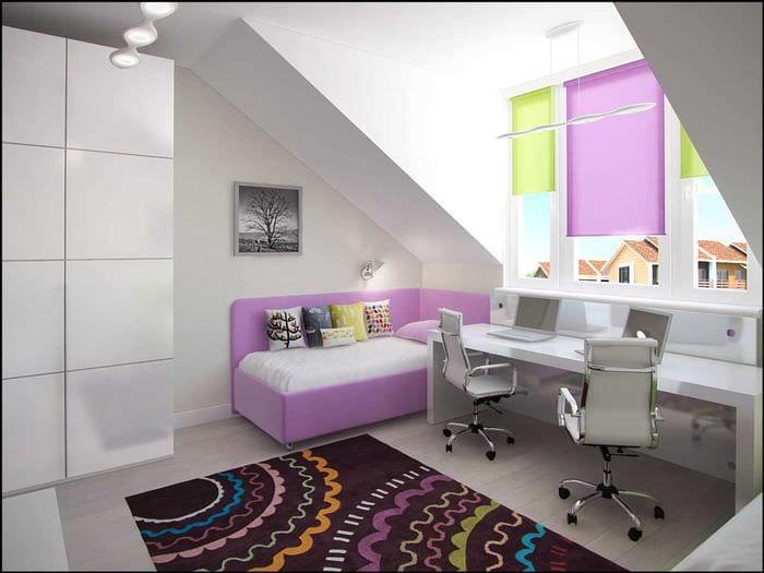 вариант светлого современного интерьера детской комнаты