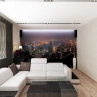 пример красивого интерьера двухкомнатной квартиры фото