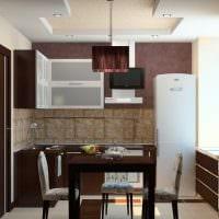 вариант красивого стиля кухни 8 кв.м фото