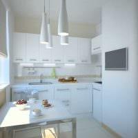 вариант красивого дизайна кухни 14 кв.м картинка
