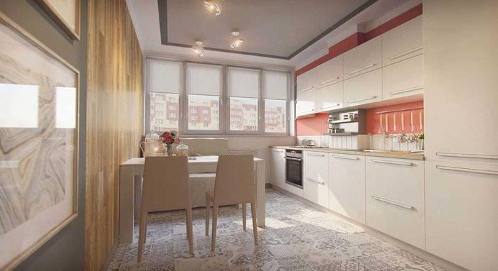 идея красивого стиля кухни 14 кв.м