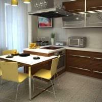 идея светлого дизайна кухни 8 кв.м картинка
