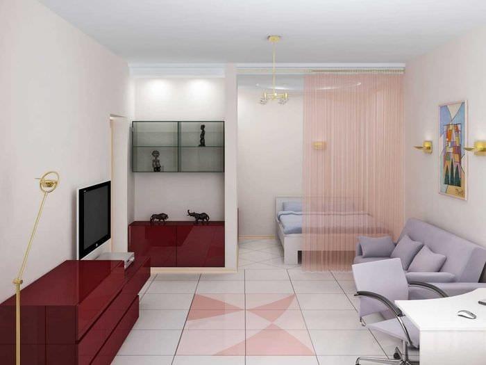 Дизайн двухкомнатной распашной квартиры