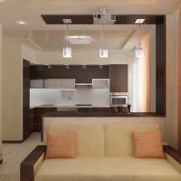 пример яркого интерьера двухкомнатной квартиры картинка