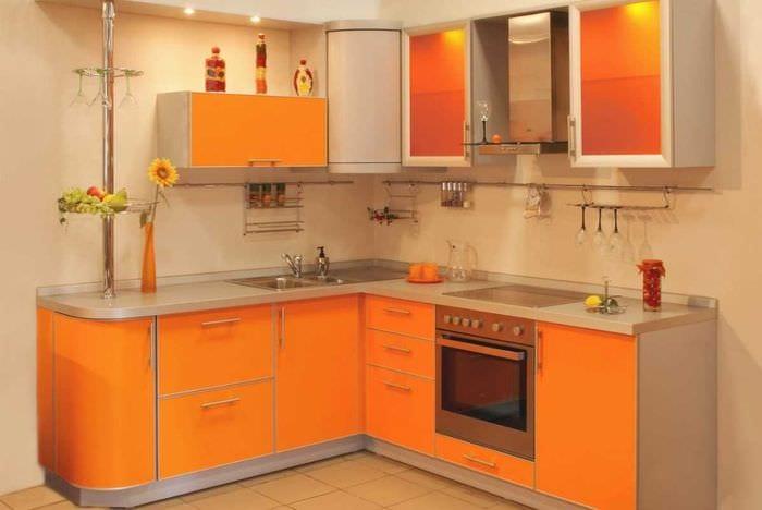 вариант красивого дизайна кухни 8 кв.м