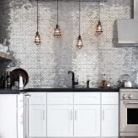 идея применения светлого интерьера комнаты в стиле ретро картинка