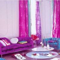 пример использования розового цвета в ярком дизайне квартире фото