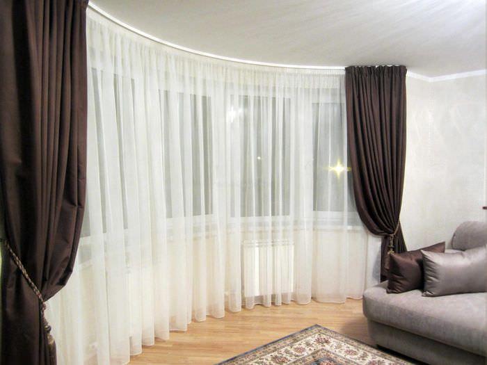 идея применения современных штор в красивом интерьере квартире