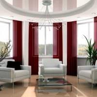 идея использования современных штор в светлом интерьере квартире фото