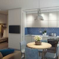 вариант необычного дизайна двухкомнатной квартиры картинка
