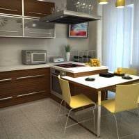 пример красивого интерьера кухни 14 кв.м фото