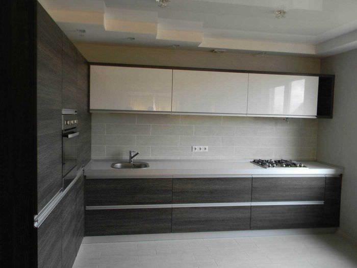 пример красивого стиля кухни 14 кв.м