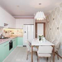 пример необычного дизайна кухни 9 кв.м фото