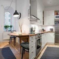 пример светлого дизайна кухни 8 кв.м картинка