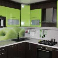 вариант светлого стиля кухни 9 кв.м картинка