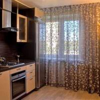 пример необычного интерьера кухни 9 кв.м фото