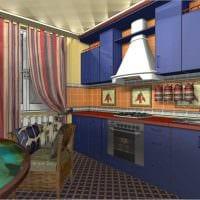 вариант необычного стиля кухни 14 кв.м фото