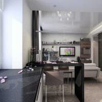 пример светлого стиля кухни 8 кв.м фото