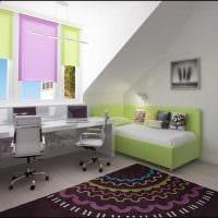 пример красивого декора детской комнаты для двоих детей картинка