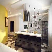 вариант светлого дизайна кухни 9 кв.м картинка
