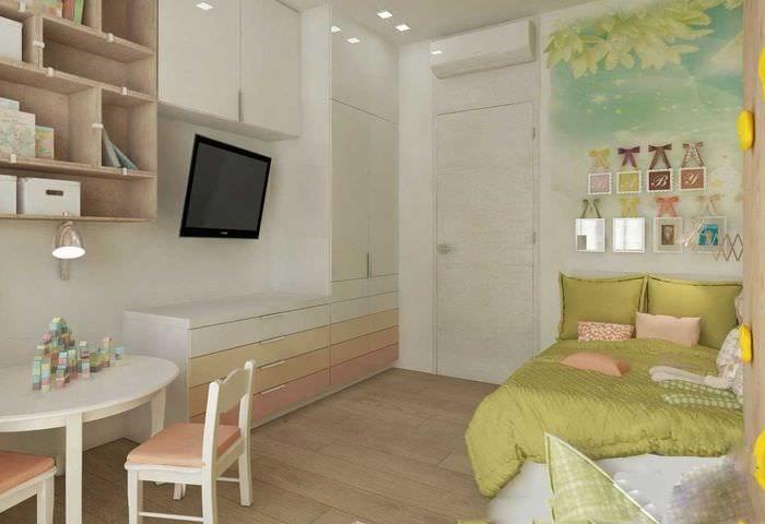 идея яркого современного стиля детской комнаты