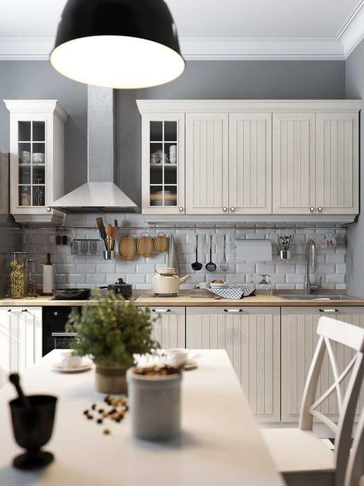 идея необычного дизайна кухни 8 кв.м