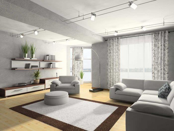 идея яркого бежевого цвета в интерьере комнаты