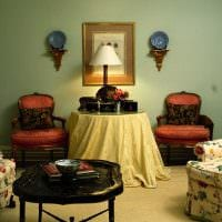 вариант применения красивого интерьера комнаты в стиле ретро фото