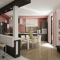 пример применения светлого интерьера кухни фото