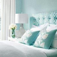 вариант использования интересного голубого цвета в дизайне квартиры картинка