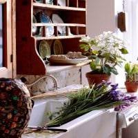 пример использования русского стиля в необычном интерьере комнате фото
