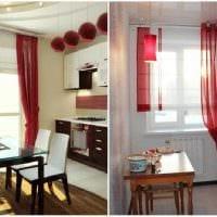 идея применения современных штор в светлом декоре квартире фото
