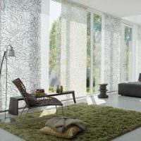 пример использования современных штор в ярком дизайне комнате фото