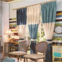 пример применения современных штор в необычном интерьере квартире картинка