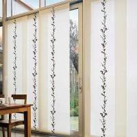 вариант применения современных штор в светлом дизайне квартире фото